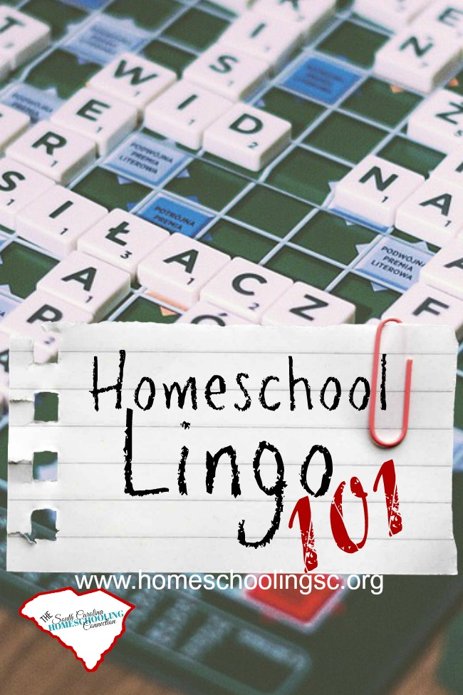 In South Carolina, we have our own homeschool lingo. Whether you're just getting starter or you're new to the state, you'll need to learn the jargon. This little glossary of terms can help cut through the homeschool lingo and find your way.