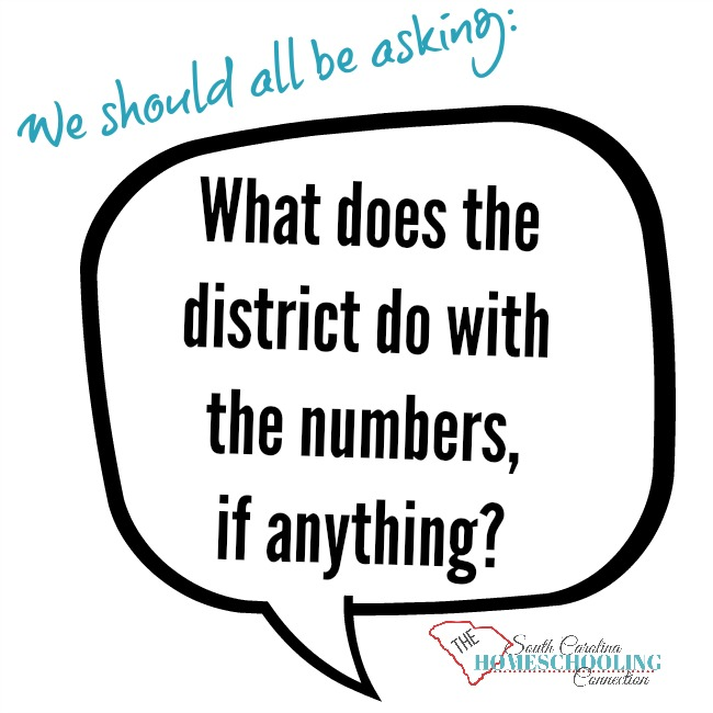 "We should be asking: ""What does the district do with the homeschool numbers, if anything?"""