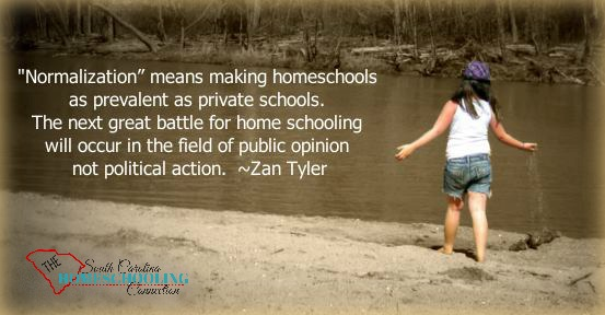 """Normalization"" means making homeschools as prevalent as private school. The next great battle for home schooling will occur in the field of public opinion, not political action."