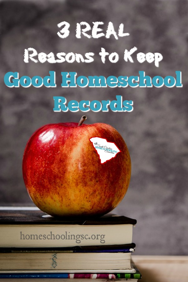 You should keep good homeschool records. Not because the law requires you to do it. Ok, yeah. Here in South Carolina, the law does require you to maintain good homeschool records. But, that's not the reason you should.