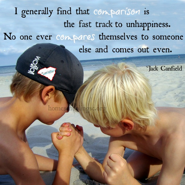 Children compare themselves to others. Siblings, cousins, friends. They're checking to see how they measure up.