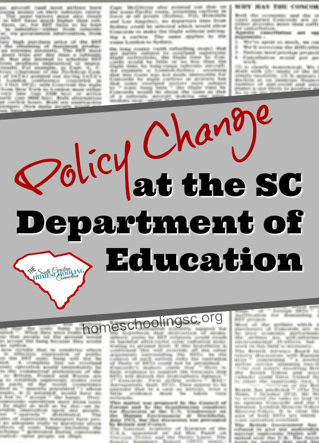 Policy Change at Department of Education