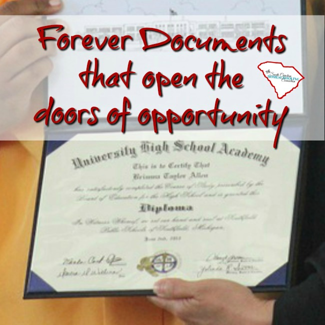 Homeschool diplomas and transcripts are forever documents that open the doors of opportunity.