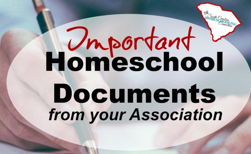 Important Homeschool Documents from Your Association