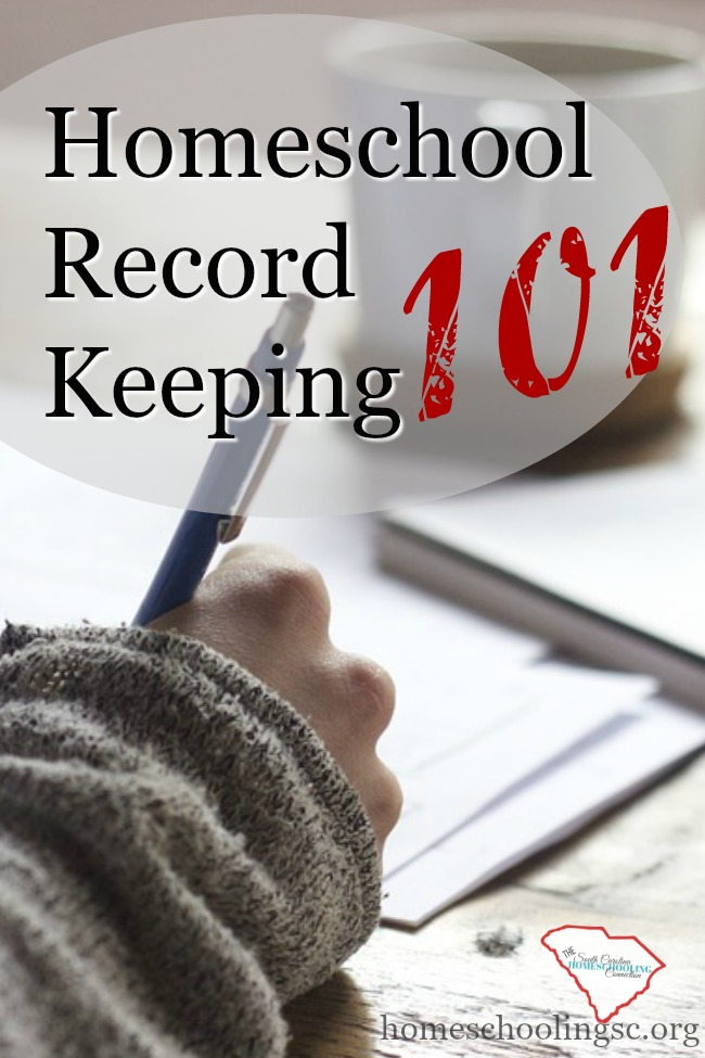 The basic homeschool record keeping requirements for getting started in South Carolina