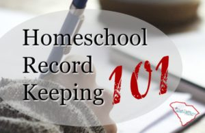 Welcome to South Carolina's Homeschool Record Keeping 101. The 411 on everything you need to get started. The basics of what's required in the law. No matter which accountability option you choose–these are the gonna be required.