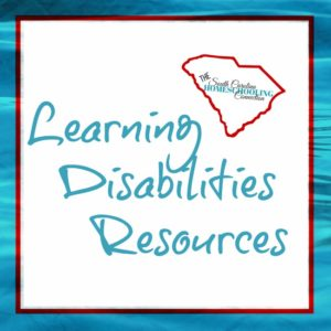 Learning Disabilities Resources Directory for Homeschoolers in South Carolina
