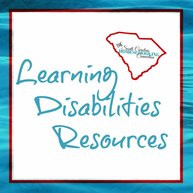 Learning Disabilities Resources for Homeschoolers in South Carolina