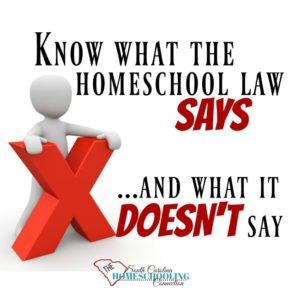 Homeschool Law in South Carolina