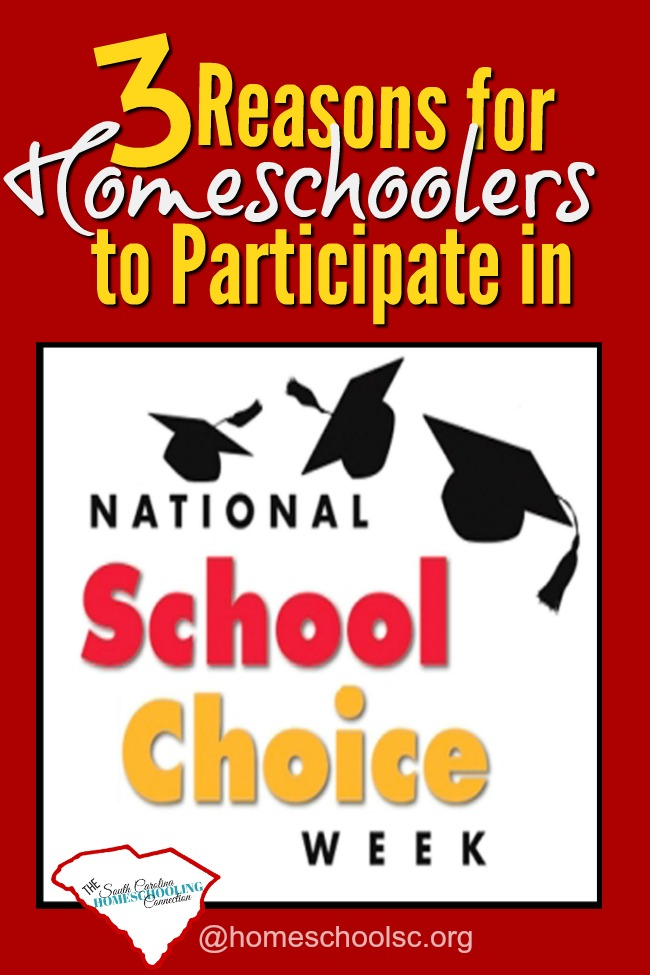 Homeschoolers can join in the celebrations for National School Choice Week. Here's how--and why.