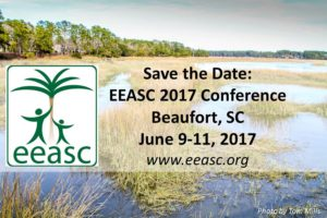 Come find our more about Environmental Education at the annual conference in South Carolina.