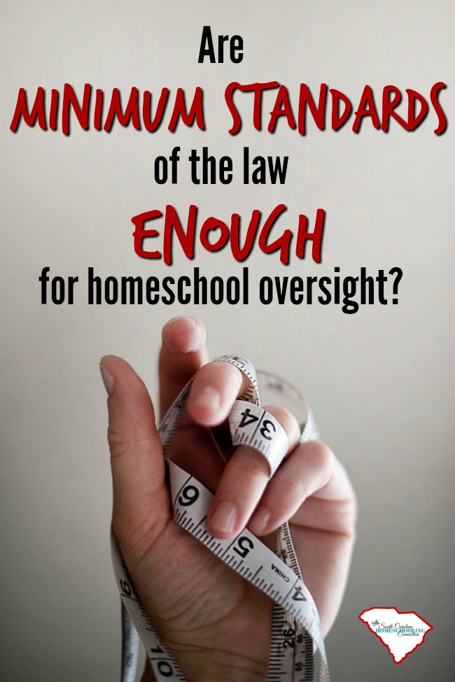 Homeschoolers are motivated by far more than any legislative standards could ever require.