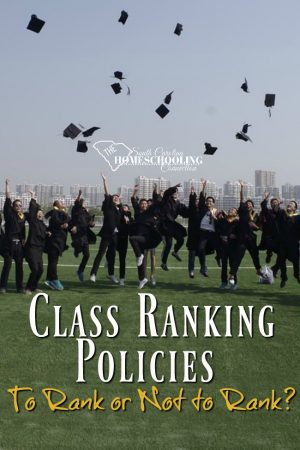 To rank or not to rank? Class ranking policies for homeschoolers in SC.
