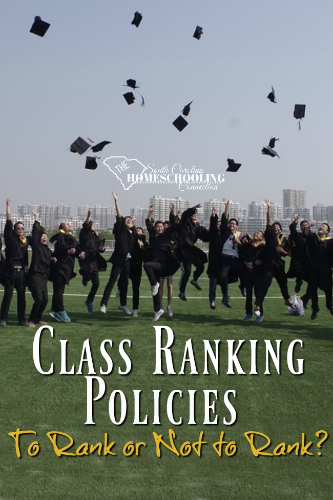 Let's talk about class ranking policies for High schoolers. To rank--or not to rank? That is our question! Here's what you need to know about ranking policies and procedures as a homeschooler in South Carolina.