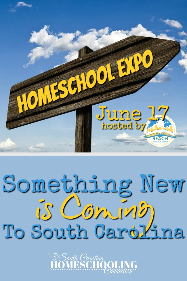 "Something new is coming this June: A Homeschool Expo! Hosted by REACH Support Group, it's a community service to all homeschoolers. Local information and opportunities that you might not find at the ""big"" conventions!"