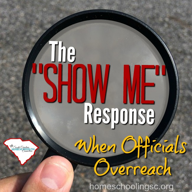 The SHOW ME Response When Officials Overreach
