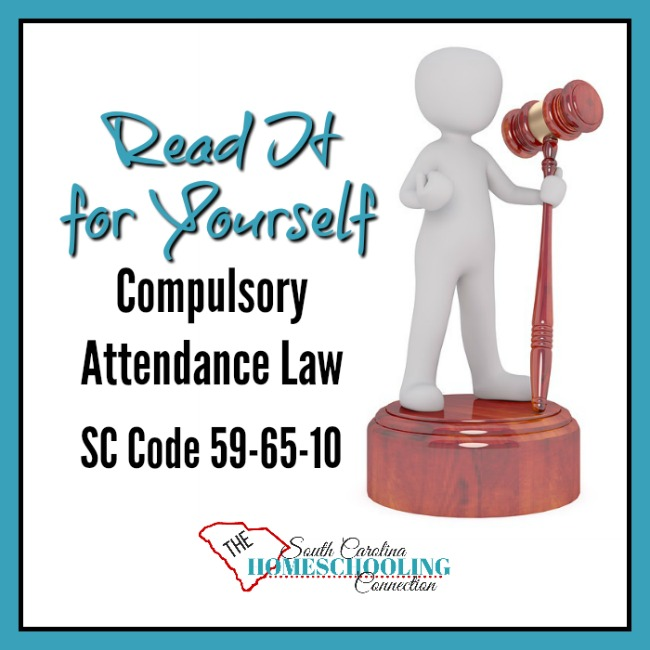 Read it for yourself: Compulsory Attendance Law in South Carolina