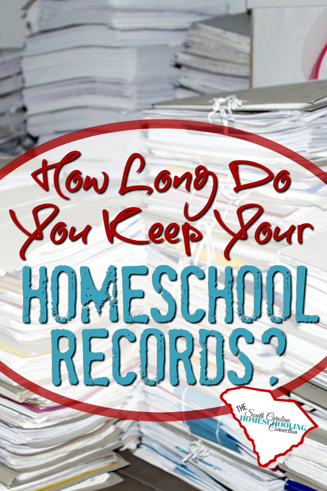 How long do you keep homeschool records? What do you keep forever?
