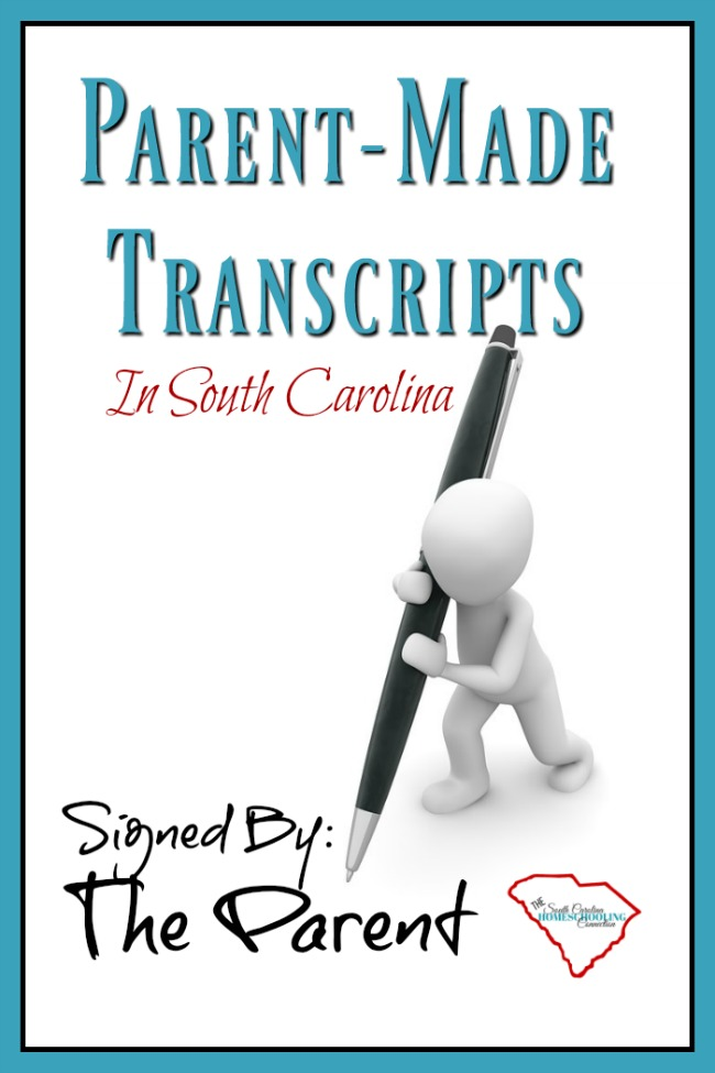 Parent Made Transcripts in South Carolina