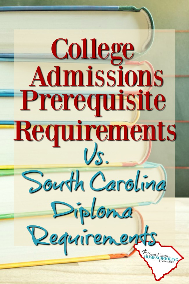 4-year College Admissions Requirements in South Carolina