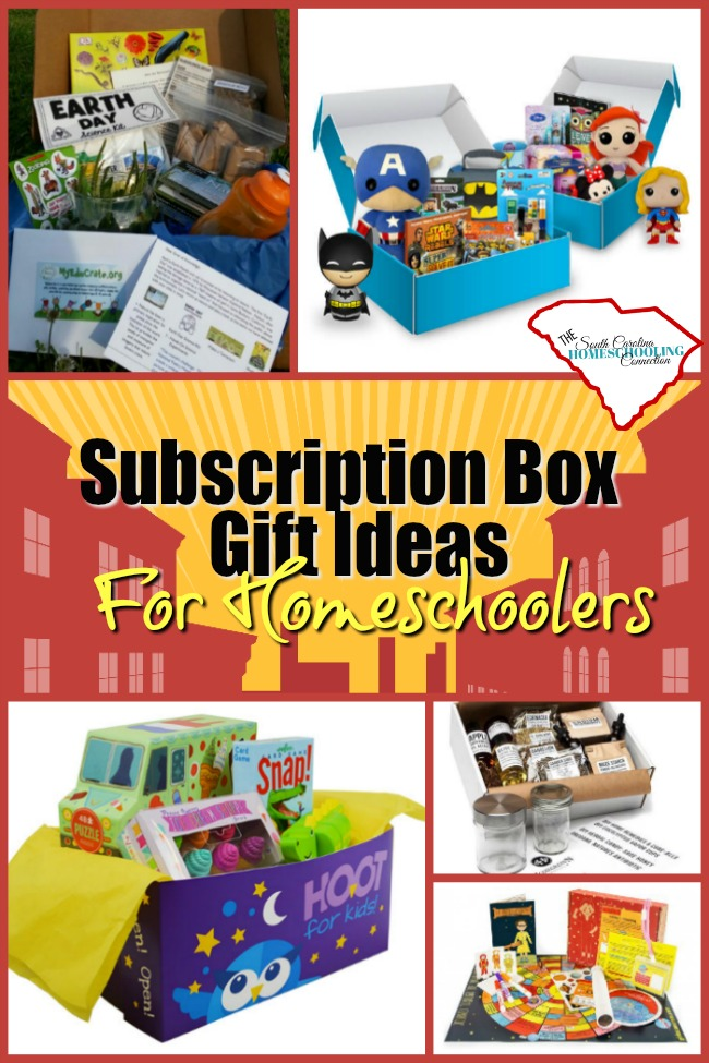 Subscription boxes are a great gift for anyone--especially homeschoolers. I've got 25 subscription box gift ideas sure to be a favorite!