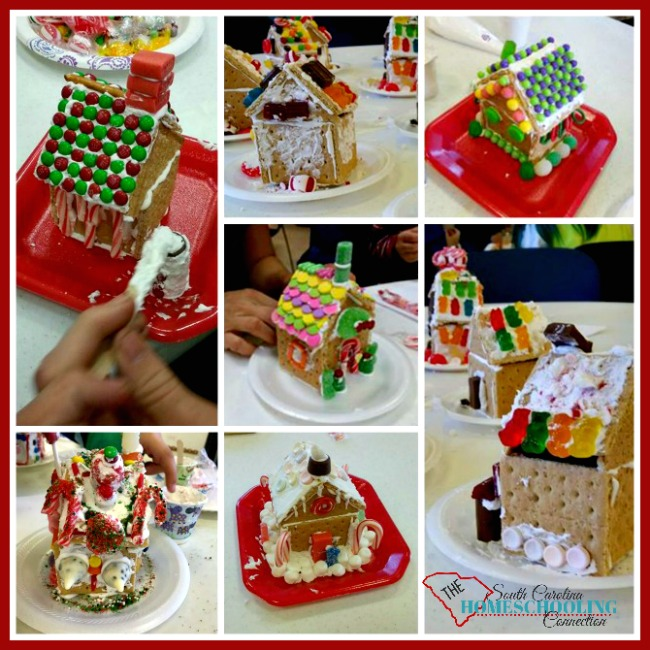 We love to host a gingerbread decorating party. It's a great activity for family, friends...and even our homeschool class or even the whole group.