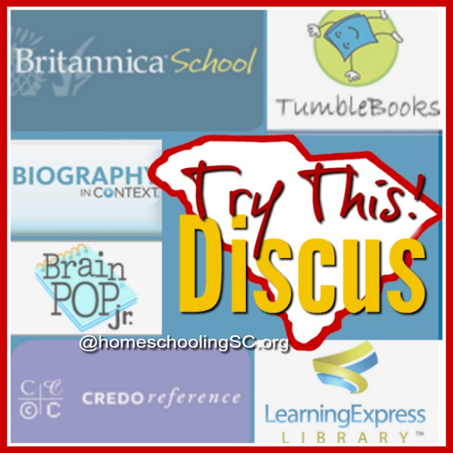 Discus–A Resource for Homeschoolers in SC