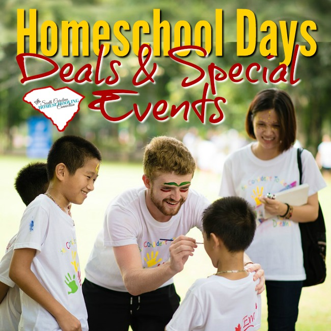 Homeschool Days Deals and Special Events