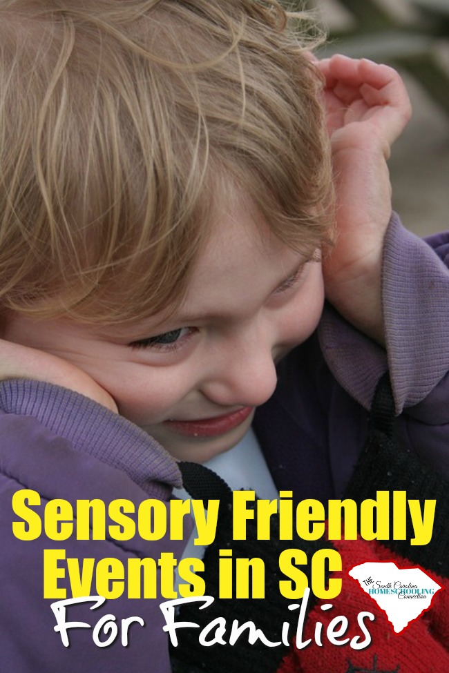 We have lots of sensory-friendly family opportunities in South Carolina. Whether or not you homeschool, these are great resources to accommodate your sensory issues.