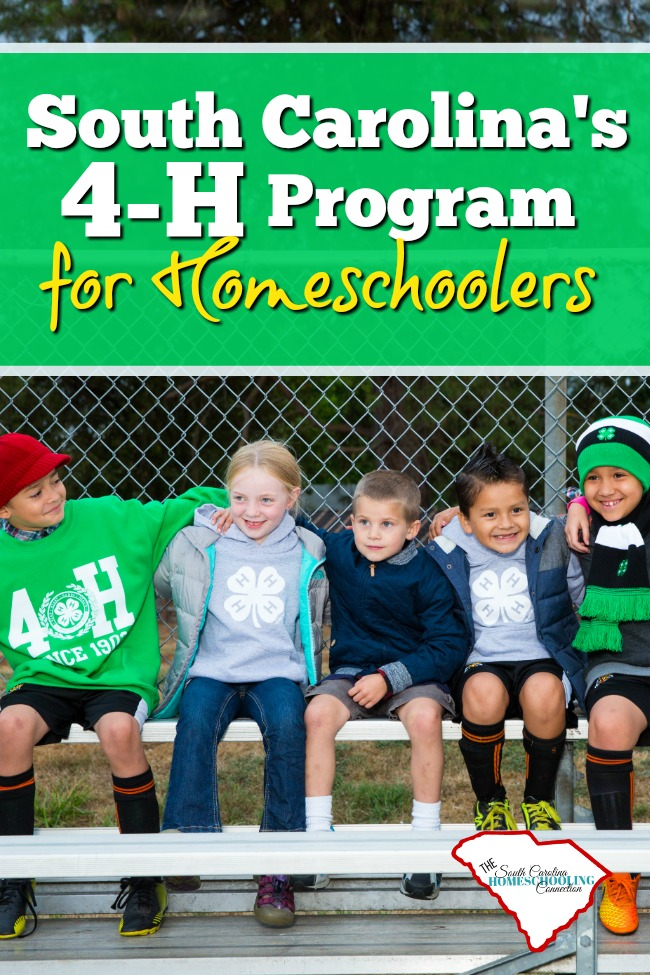 South Carolina's 4-H Program helps mold youth into the next generation of leaders. It's a great program for homeschoolers in South Carolina.
