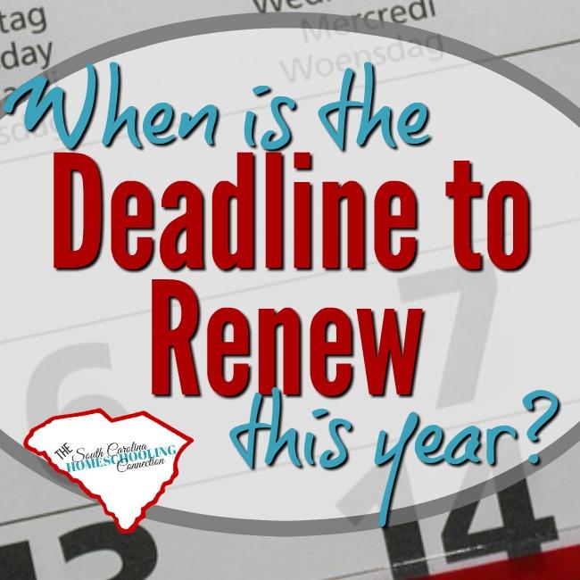 When is the Deadline to Renew Your Homeschool Registration?