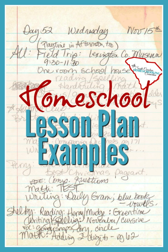 Let's take a look at some lesson plan examples.