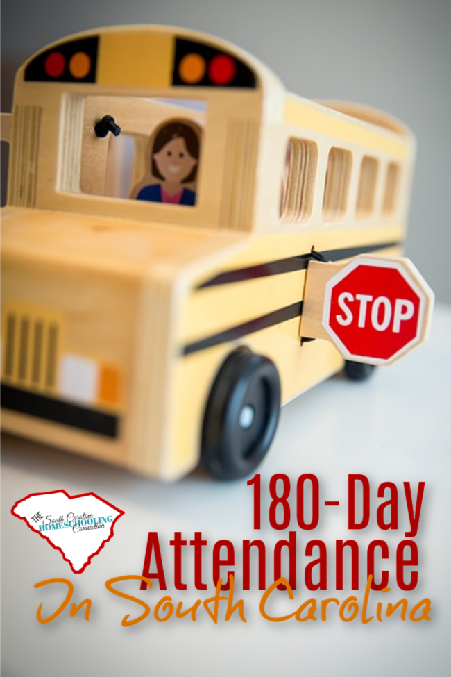 180 Day Attendance policy for homeschoolers in SC