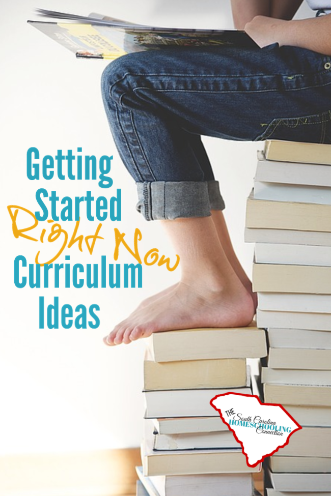 Quick and Easy getting started curriculum ideas for homeschoolers