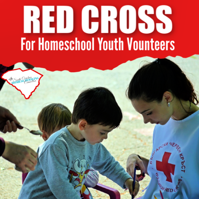 The Red Cross offers a variety of educational opportunities that homeschoolers might utilize. The Red Cross wants to work with you and your homeschool volunteers!