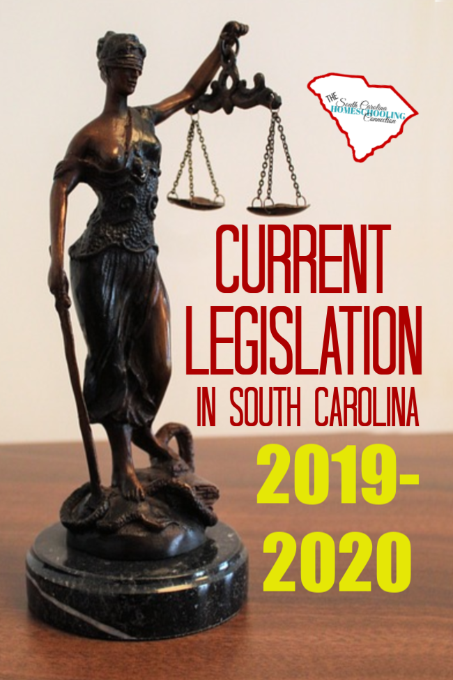 Current SC Legislation 2019 starts a 2-year session. So, bills that are introduced here will remain on our watch list and mentions thru May 2020.