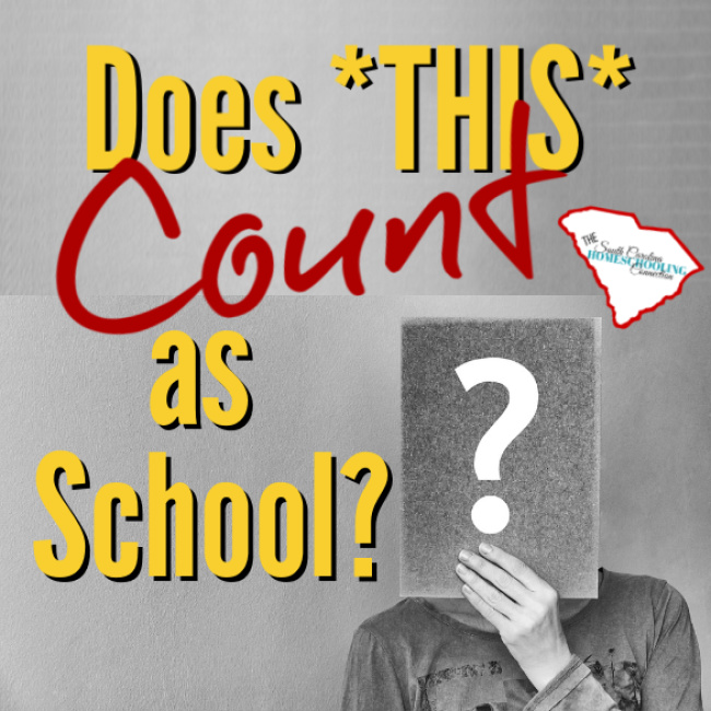 "What ""counts"" as school? If it counts, does is count a whole day...or just half a day? Does *THIS* count?"