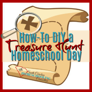 What does a homeschool school day look like? Here's an example from a homeschooling dad in South Carolina. He created an impromptu treasure hunt homeschool day.