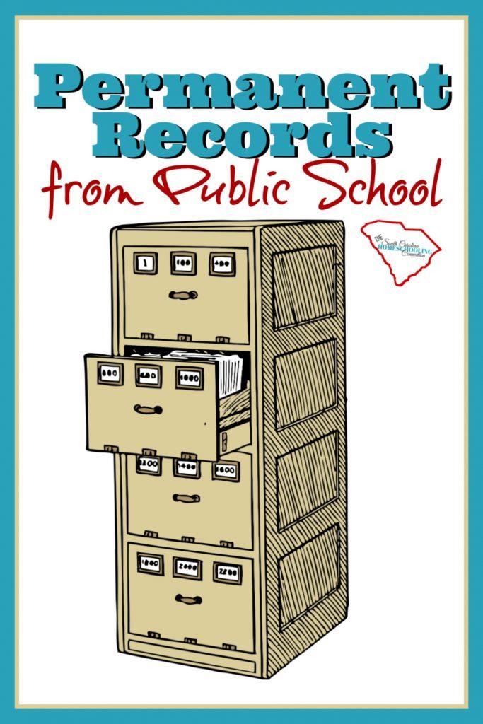File cabinet. Public school Permanent Records